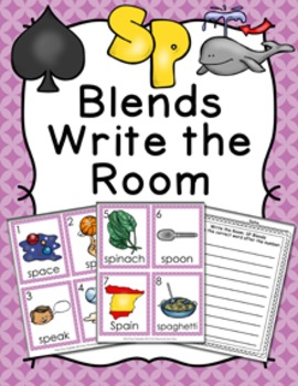 SP Blends Write the Room Activity