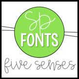 Five Senses Doodle Font