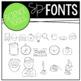 Science Tools Doodle Font