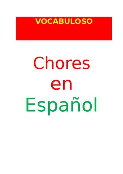 SP VOCABULOSO Chores