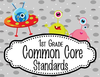 """SPACE - 1st Grade Common Core Standards """"I CAN"""" format / posters"""