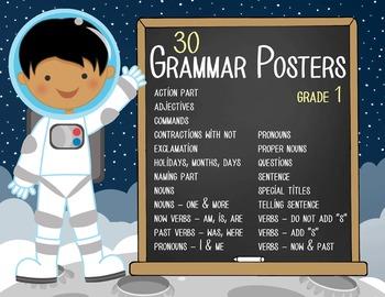 SPACE - 1st grade GRAMMAR posters / Scott Foresman Reading