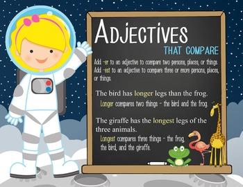 SPACE - 2nd grade GRAMMAR posters / Scott Foresman Reading