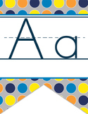 SPACE - Alphabet Flag Banner, handwriting, A to Z, ABC print font