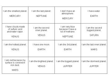 SPACE BINGO (English)