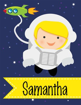 SPACE - Binder Covers / MS Word, you personalize