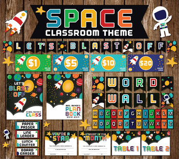 SPACE CLASSROOM THEME || Let's blast off! || Teacher's Pack || Classroom files |