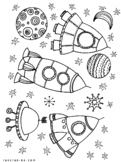 SPACE COLORING BOOK!
