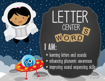 SPACE - Classroom Decor: Center Signs, student cards