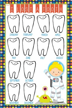 SPACE - Classroom Decor: I lost a TOOTH - size 24 x 36