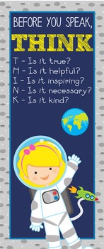 SPACE - Classroom Decor: LARGE BANNER, Before You Speak