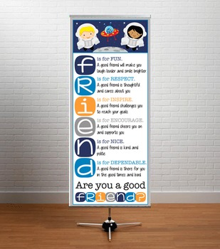 SPACE - Classroom Decor: LARGE BANNER, FRIENDS