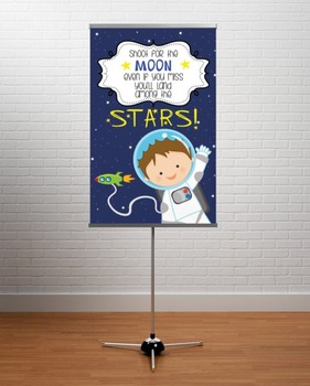 SPACE - Classroom Decor: MEDIUM BANNER, Shoot for the Stars, BOY
