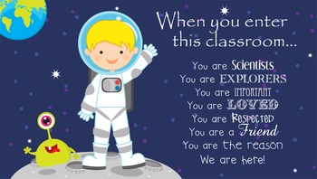 SPACE - Classroom Decor: SMALL BANNER, When you enter this