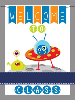 SPACE - Classroom Decor: WELCOME Poster - 18 x 24, you personalize, Design A