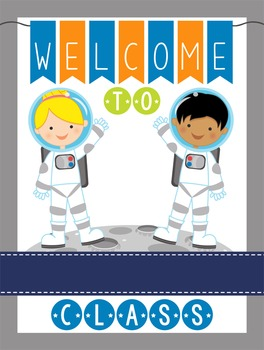 SPACE - Classroom Decor: WELCOME Poster - 18 x 24, you personalize, Design B