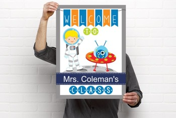 SPACE - Classroom Decor: WELCOME Poster - 18 x 24, you personalize, Design C