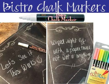 SPACE - Classroom Decor: editable chalkboard  POSTERS / Bistro Chalk Markers