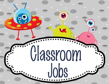 SPACE - Classroom Helpers JOBS clip chart