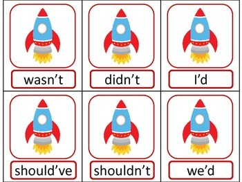 SPACE Contraction ELA Literacy Center GAMES