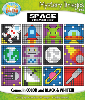 SPACE Create Your Own Mystery Images Clipart Set