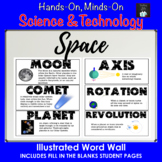 ONTARIO SCIENCE: GRADE 6 SPACE ILLUSTRATED WORD WALL