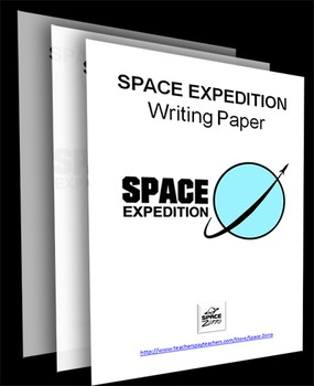 SPACE EXPEDITION THEME writing paper