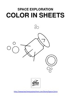 SPACE EXPLORATION color in sheets