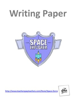 SPACE EXPLORER unique and clear writing paper