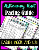 SPACE FREE PACING GUIDE- EARTH, MOON, & SUN UNIT PRINTABLE