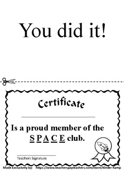 SPACE Journal  STEP ONE - Learning How To SPACE Between Words!
