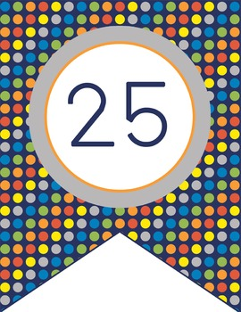 SPACE - Number Line Banner, 1 to 25, EDITABLE to continue