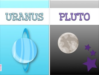 SPACE PLANETS Cards Posters
