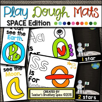 SPACE Play Dough Mats --- 16 Picture Mats and 10 Counting Mats 1-10