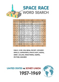 SPACE RACE word search