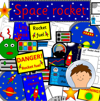 SPACE ROCKET role play pack- dramatic play