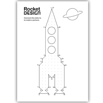 SPACE ROCKETS connect the dots