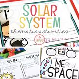 SPACE SOLAR SYSTEM THEME ACTIVITIES FOR PRESCHOOL, PRE-K AND KINDERGARTEN