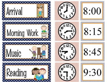 SPACE - Schedule Cards / editable MS WORD / Illustrated