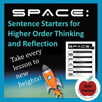 SPACE: Sentence Starters for Higher Order Thinking and Reflection