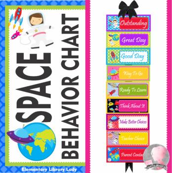 SPACE Theme Behavior Clip Chart - EDITABLE