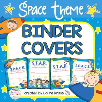 SPACE Theme Binder Covers