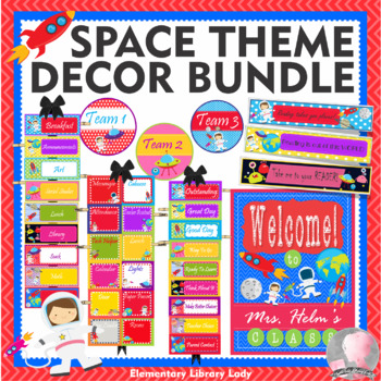 SPACE Theme Classroom Decor - BUNDLE
