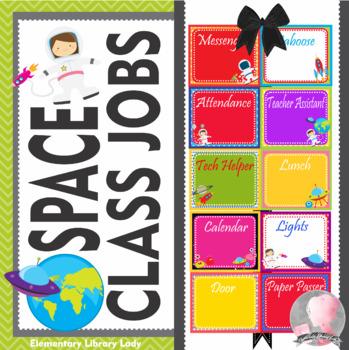SPACE Theme Classroom Jobs - EDITABLE