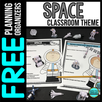 SPACE Theme Decor Planner by Clutter Free Classroom