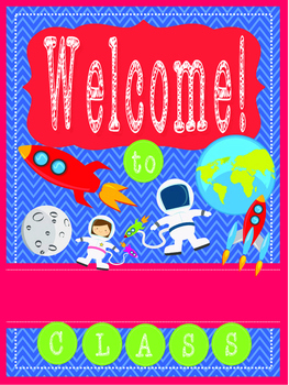 SPACE Theme - EDITABLE Welcome Poster - 18 x 24