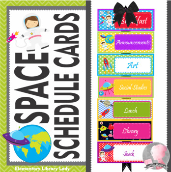 SPACE Theme Schedule Cards - EDITABLE