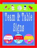 SPACE Decor Team & Table Circle Signs - EDITABLE