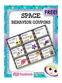 SPACE Themed Positive Behavior Reward Coupons FREEBIE