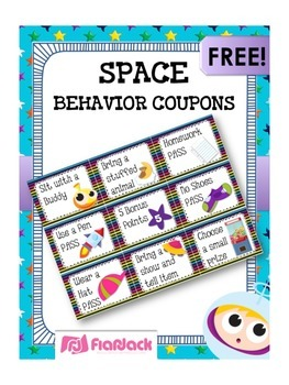 SPACE Themed Positive Behavior Reward Coupons FREEBIE